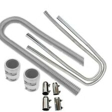 "48"" Stainless Steel Flexible Radiator & 44"" Heater Hose Kit With Clamp Covers"