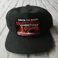 Vintage San Francisco 49ers Back to Back Snapback Hat Cap 90s Sports Specialties