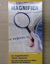 magnifier loupe 5x (diameter 75mm diamètre)