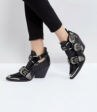 Jeffrey Campbell Ozark Western Buckle Ankle Boots UK 6 /7