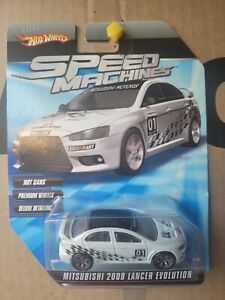 Hot Wheels SPEED MACHINES Mitsubishi Lancer EVO X [WHITE] CAR NEAR MINT VHTF