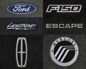 Velourtex 4pc Carpet Floor Mats for Ford Vehicles - Choose Color & Logo