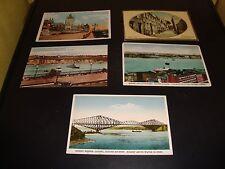 Vintage Quebec Canada Post Card Quantity 5 Lot VG 1920 Chateau Frontenac / Levis