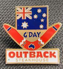 OUTBACK STEAKHOUSE - Lapel Pin - G'Day - Boomerang - Australian Flag