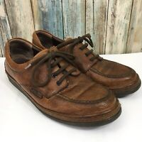 Mephisto Runoff Air Jet Men's 9 Brown Leather Oxford Shoes 100% Caoutchouc