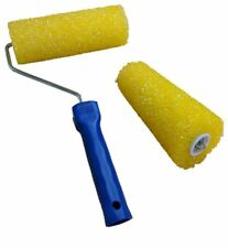 "Textured 7"" Paint Roller Sleeve and Handle Stipple Effect Embossed Sponge Design"