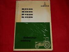 DEUTZ D 2506 D 3006 D 4006 D 4506 Traktor Bedienungsanleitung von 1974