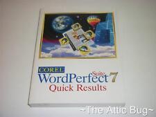COREL WordPerfect Suite 7 rapidi risultati ~ softback BOOK