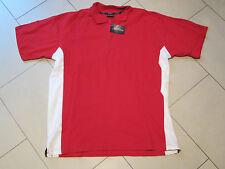 SALE: neues Polo-Shirt in rot mit weißen Streifen in Größe 42 von New Wave