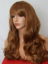 Long Wavy Full Women Fashion light brown auburn ginger cosplay Ladies Wig G10