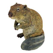 Realistic Beaver Buck Toothed Friend Sculpture Garden Statue