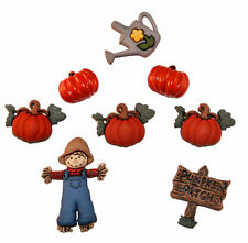 """Dress it Up """"Pumpkin Patch"""" Buttons Fall"""
