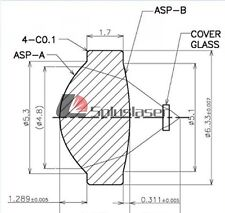 405nm/445nm/488nm/520nm Laser Lens/MP9x9mm/Laser Collimation Glass lens 1 pc