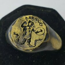 ABRAXAS-Ancient Bronze   Ring-Vintage-Antique ROMAN-BRONZE-RARE