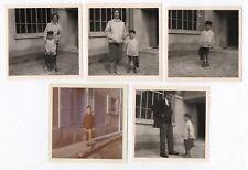 PHOTO ANCIENNE 1960 École Écolier Rentrée des classes Cartable Parent Tablier