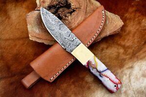 """8""""MH KNIVES CUSTOM HANDMADE DAMASCUS STEEL FULL TANG HUNTING/SKINNER KNIFE D-03W"""