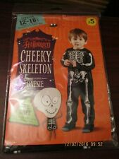 Toddler Halloween Costume Age 12 - 18 months Cheeky Skeleton Romper Suit  (NEW)