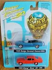 2019 JOHNNY LIGHTNING 2 Pack 1969 CHEVY NOVA SS 396 and 1969 DODGE CORONET
