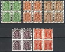 India 1982 Official Capital of Asoka Pillar blocks 4 MNH