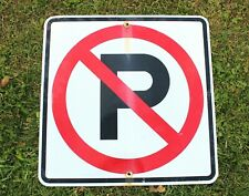 """Authentic Retired Michigan Highway Road Sign - No Parking - 24"""" x 24"""", Driveway"""