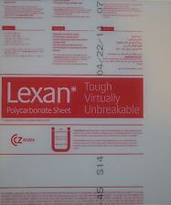Qty 1 Lexan Polycarbonate Clear Sheet 18x10x12 Nominal Size Uv Protected
