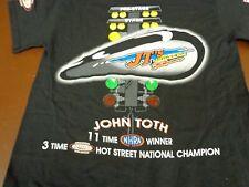 John Toth NHRA Drag Racing Winner  Hot Street National Champion Small T Shirt U6
