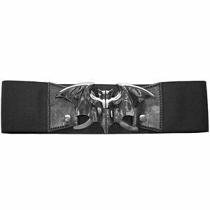 Authentic KREEPSVILLE 666 Bat Elastic Waist Belt Silver S/M L/XL NEW