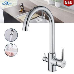3 Wege Küchenarmatur Wasserfilter Wasserhahn mit Osmoseanlage Trinkwasserhahn DE