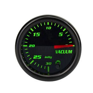 2'' 52mm 7 Color LED Display Mechanical Vacuum Intake Gauge Meter Black Face