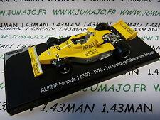 voiture 1/43 ELIGOR : Renault Formule 1 A500 1976 1er Prototype labo renault