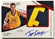 2017-18 Immaculate TJ Leaf Auto RPA RC #'d 12/15 Nameplate Patch Red Pacers UCLA