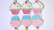 6Pcs Mini Wooden Cupcake pegs mixed, cardmaking Topper cards crafts Photo Clips