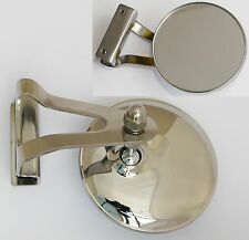 Austin/BMC Classic Mini Stainless Steel RH Clamp-on Circular Overtaking Miroir