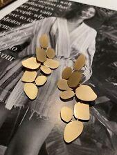 Latoir Instagram Fashion Blogger Matte Gold Irregular Statement Drop Earrings