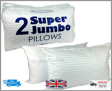 Extra Large Jumbo Pillows Hotel Quality Striped Pillows Pack 2 DELUXE PILLOW