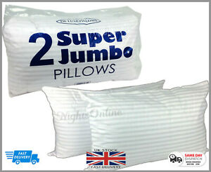 Extra Large Jumbo Pillows Hotel Quality Striped Pillows Pack of 2 DELUXE PILLOW