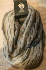 NWT COVINGTN OMBRE LOOP KNIT SCARF SHADES OF GRAY HONEYCOMB  ~ SOFT