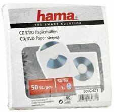 Hama CD / DVD Papier-Schutzhüllen, Hüllen, Aufbewahrung, weiß, 50er Pack 62671
