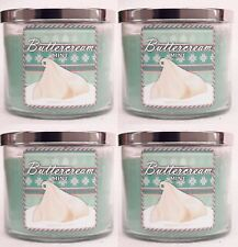 4 Bath & Body Works Buttercream Mint 3-Wick Candle 14.5 oz
