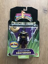 "*NEW Power Rangers Super Legends 5"" Zeo Gold Ranger Factory Sealed Black Bandai"