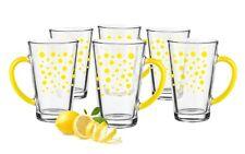 6 Latte Macchiato Gläser 300ml Gelbe Punkte Teegläser Kaffeegläser Milchkaffee