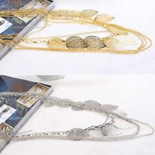 Vintage Bohemian Leaves Multi-layer Long Necklace Pendant Chains Elegants JewelP