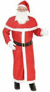 Weihnachtsmann Kostüm Nikolaus rot Mantel mit Gürtel Bart und MützeWeihnachtsman