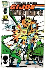 GI JOE AND THE TRANSFORMERS #1 (NM) Snake Eyes! Bumble Bee! 1987 Marvel