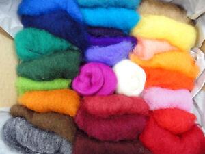 Filzwolle Vlies 20 gramm Merinowolle zum Filzen Märchenwolle 27 Farben Auswahl