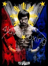 Manny Pacquiao Boxing Poster BK 4LUVofBOXING 11x17 Pacman New
