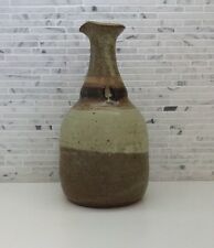 Danish Modern Pottery Earthy Stoneware Vase Water Wine Pitcher Mid Century Style