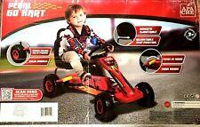 Apache Maximum Speed RED Pedal Go Kart w/ Adjustable Seat Side Brake Shift - New