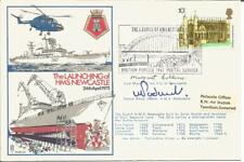 Newcastle Mayor + Senior Officer Signed Launching Of HMS Newcastle Cover AY1301