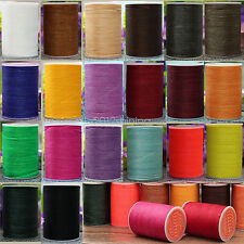0.65mm Round Waxed Thread Leather Hand Sewing Stiching Cord 78 meters
